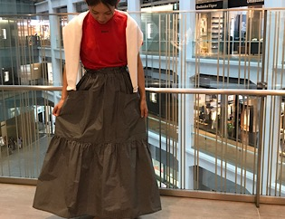 SOFIE D'HOOREのスカートでSTAFF CORDINATE☆